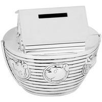 Silver Plated Noahs Ark Money Box