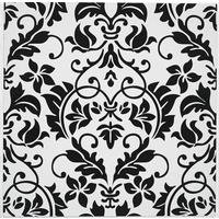 Pack Of 20 Damask Embossed Tile Transfers