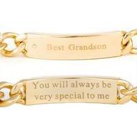 Gold Plated Grandson Bracelet