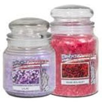 Rose and Lilac Floral Jar Candles - Twin Pack