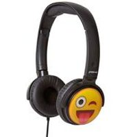 Groov-e EarMOJI Headphones Tongue/Winking Face