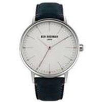 ben sherman leather strap watch  blue