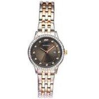 ladies sekonda black and crystal watch