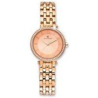 ladies rose gold accurist watch