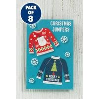 8 Self-Adhesive Christmas Jumpers Gift Tags
