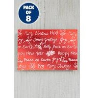 8 Self-Adhesive Copper Wording Foil Gift Tags