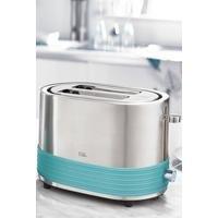 Teal Banded 2-Slice Toaster