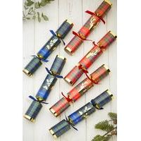 6 Tartan Stag Foil Christmas Crackers
