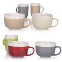 4 Piece Cable Knit Jumbo Cups