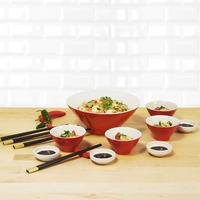 21 Piece Chinese Dining Set
