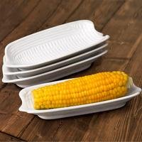 4-Piece White Corn On The Cob Dishes