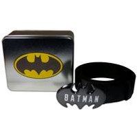 Batman Logo Buckle Belt an a Tin