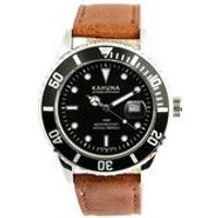 mens brown kahuna watch with silver case