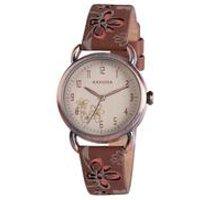 womens brown flower watch