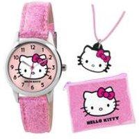hello kitty glitter watch set