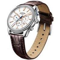 gents rotary monaco steel strap watch.
