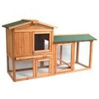 Pet Vida Double Wooden Pet Hutch