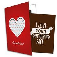 I Love Your Face Chocolate Card