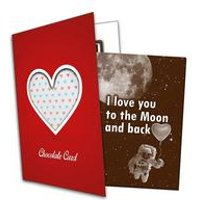 I Love You to the Moon and back Chocolate Card