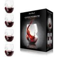 Final Touch Conundrum Red Wine Glasses - 4 Pack