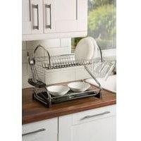 Swan 2 Tier S Shape Dish Rack