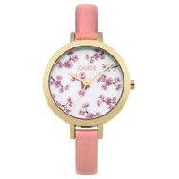 oasis ladies pink strap watch