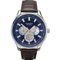 gents sekonda blue dial watch