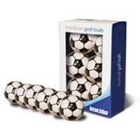 Longridge Football Pattern Golf Balls 6 Pack