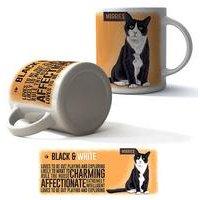 Black and White Cat Boxed Mug