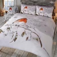 robin snow watch duvet set