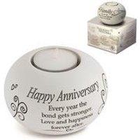Said with Sentiment Tea Light - Happy Anniversary