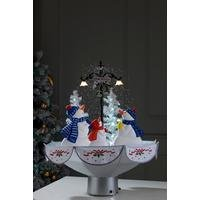 Musical Snowing Snowman Family