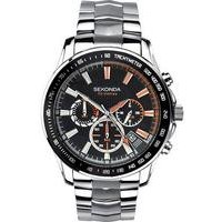 gents silver and black dial sekonda watch