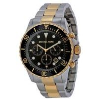 michael kors everest oversized chronograph twotone mens watch