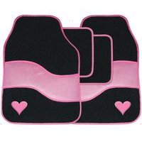 Pink Car Mat Set