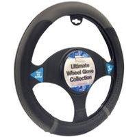 Black/Grey Steering Wheel Sports Grip