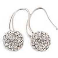 18ct Gold Plated Diamante Drop Earrings