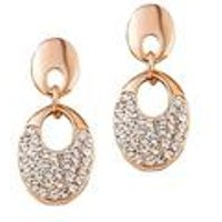 18ct Gold Plated Open Oval Drop Earrings