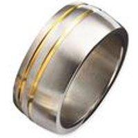Mens Dual Tone Ring