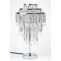 Silver Droplet Table Lamp