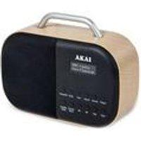 Akai DAB Radio Beech With LCD Screen