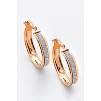 9ct Rose Gold Large Stardust Creole Earrings