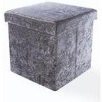 Crushed Velvet Foldable Storage Box