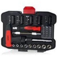 61 Piece Screwdriver Bit and Socket Set