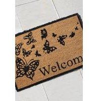 Butterfly Coir Welcome Doormat