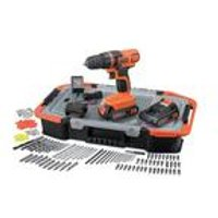 Black and Decker 18V Drill with Case and Accessories