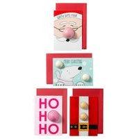 Pack of 4 Bomb Cosmetics Bath Bomb Christmas Cards
