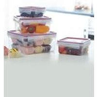 Set Of 4 Click N Seal Food Storage Set