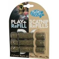 Play + Fill Refillable Catnip Tubes