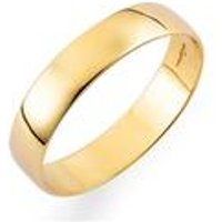 Yellow Gold Plain Wedding Band - Hers